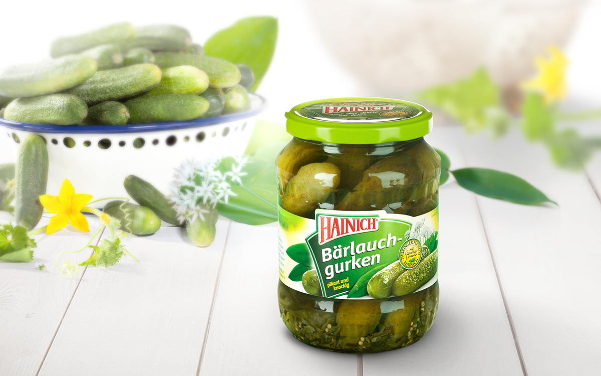 Wild garlic gherkins