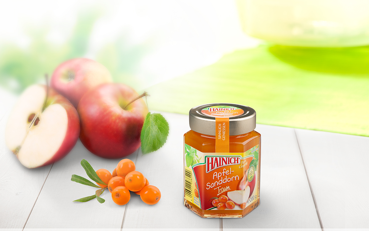 Apple and sea buckthorn fruit spread