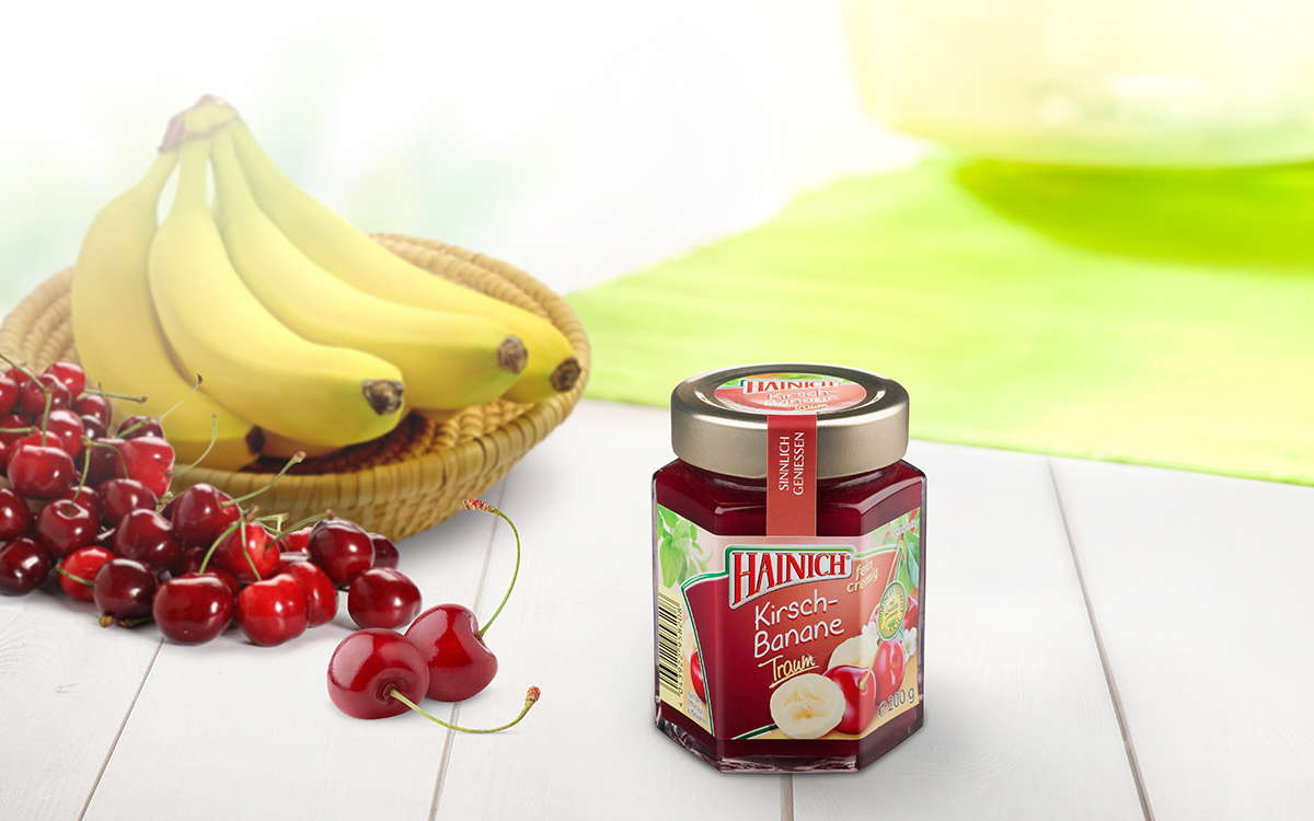Cherry and banana fruit spread
