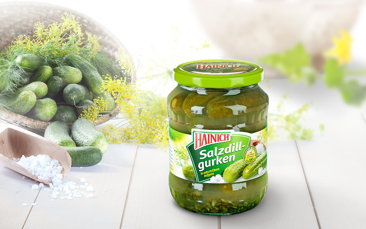 Salty dill gherkins